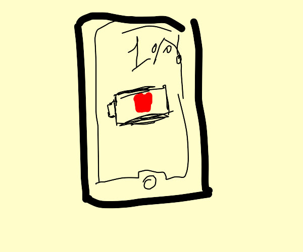 Phone at 1 percent battery