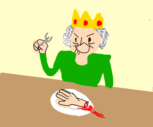 Killer Queen eats a hand