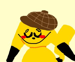 Pickachu with a cap