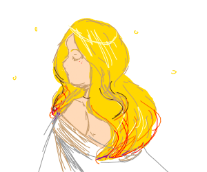 It's a blonde lady