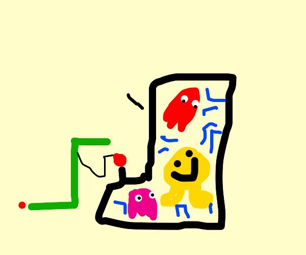 Centipede plays Pac-Man