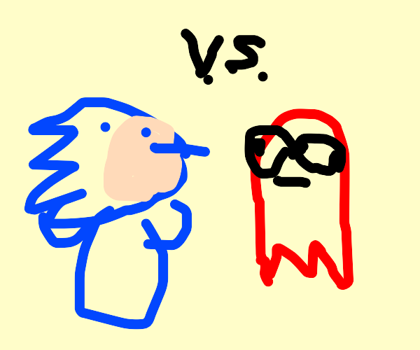 Sonic vs Pac-Man ghost