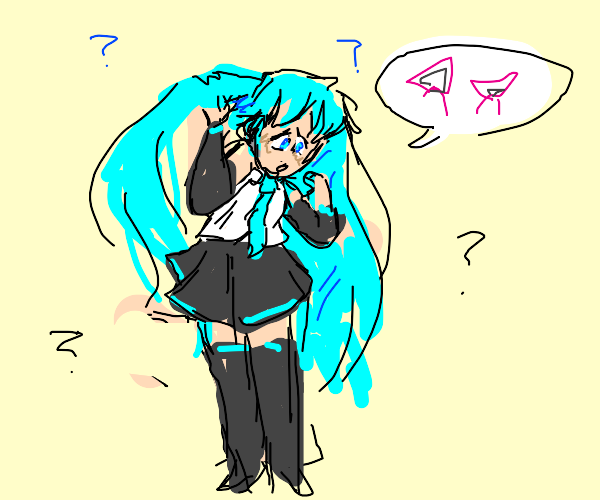Miku is missing her hair bands