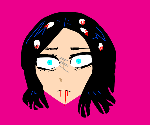 someone who wears teeth in her hair