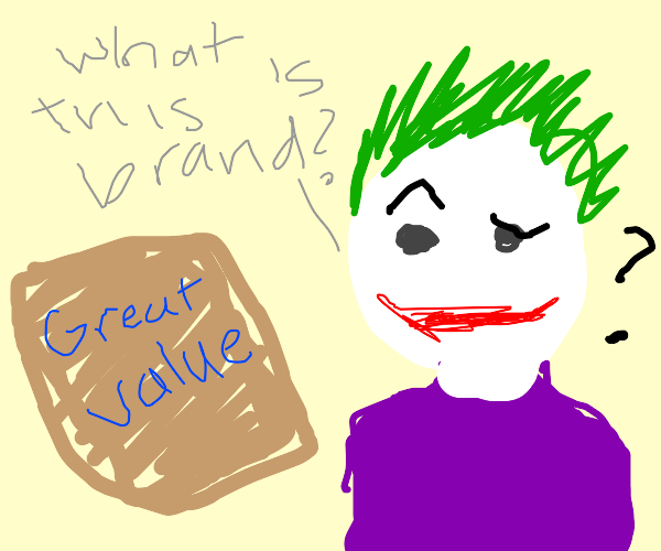 off brand joker doesnt know