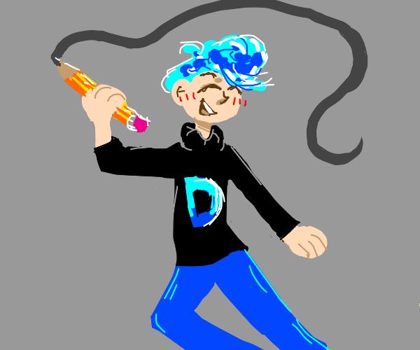 Drawception D became human!