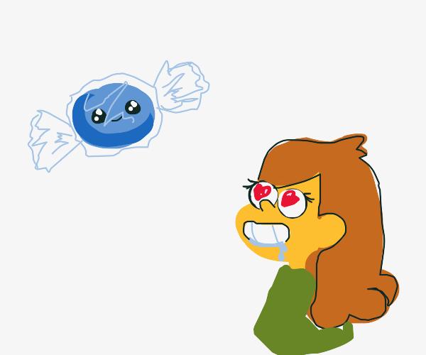 Mabel loves sentient blue candy