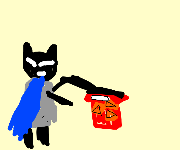 batman punching a dorito-man