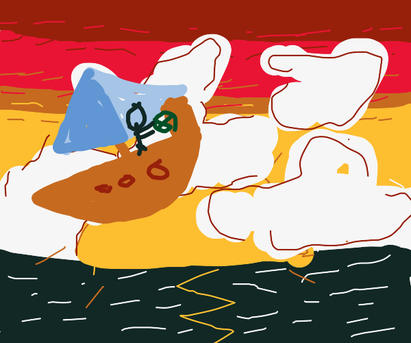 A ship sailing in the clouds (free draw pio)
