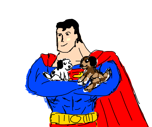 Superman is a dog person