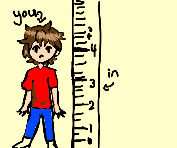 you are about 4.3 inches.