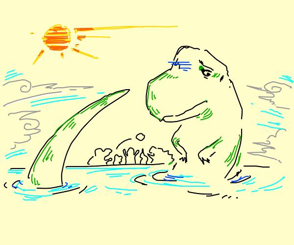 T-Rex Has no friends