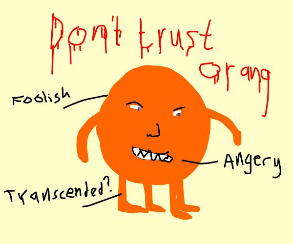 Snarling orange quadruped.