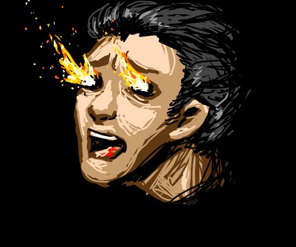 screaming man, eyes on fire!  AAAHHH