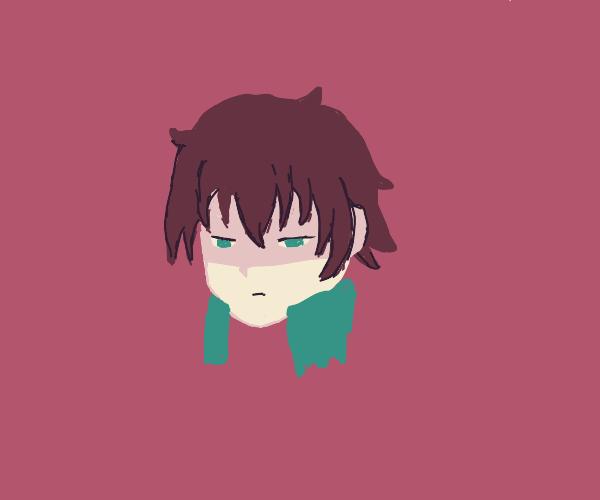 A very unimpressed Kazuma