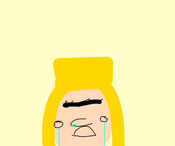 little girl crying :,(
