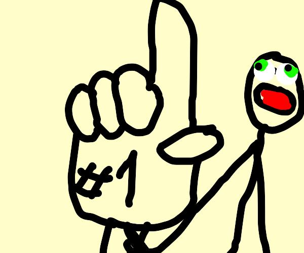 #1 foam finger