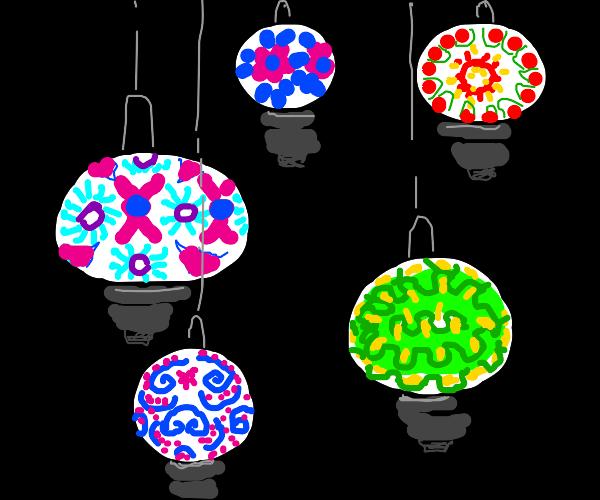 Beautiful paper lanterns