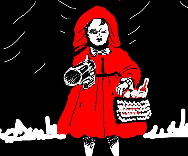 Little Red Riding hood has a gun