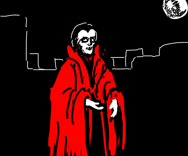 Man with red cape