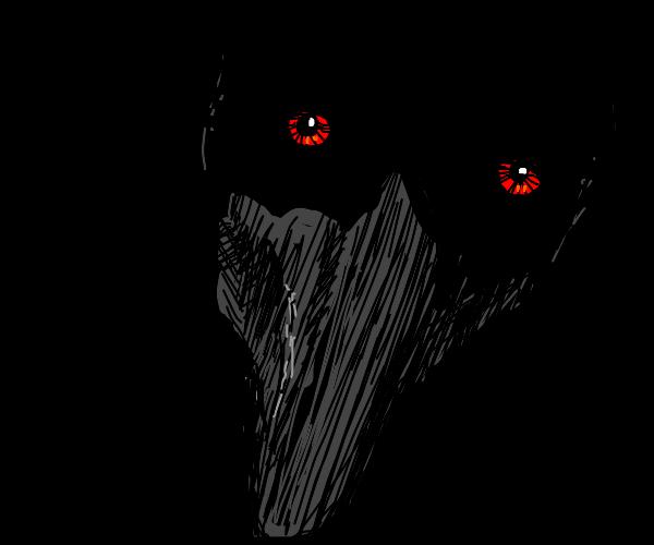 Scp dark man red eyes
