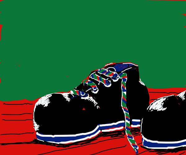 """I like your shoelaces."""