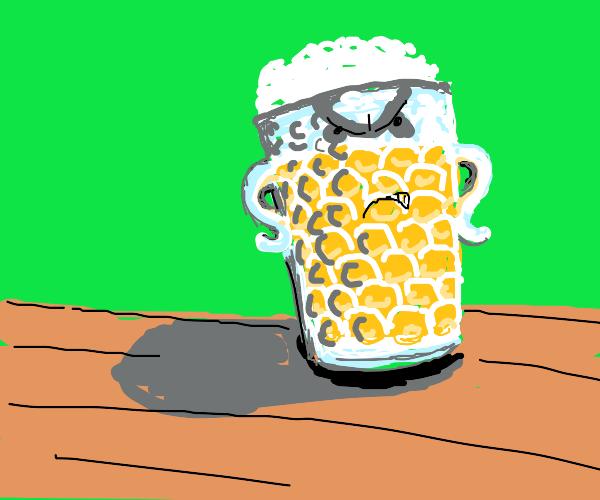 Angry beer glass