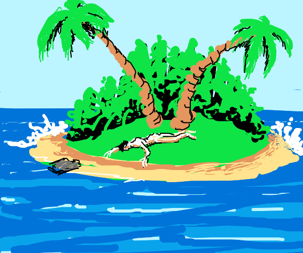 Stranded on a island, then starve