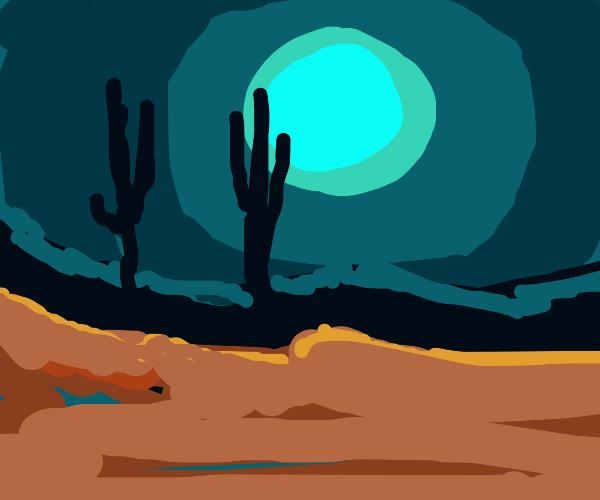 Really Pretty Desert at Night