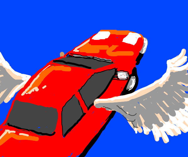 car with wings