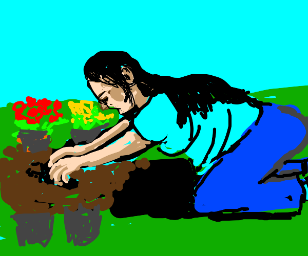 digging with your hands