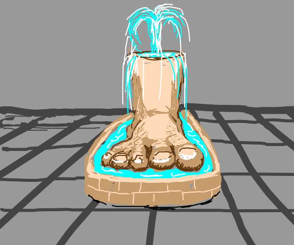 A foot fountain