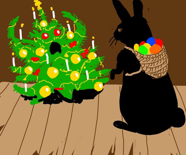 Scared christmas tree