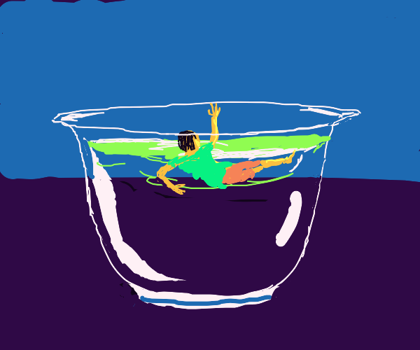 Drowning in a dish of water