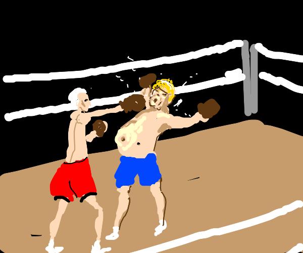 Biden beats Trump in boxing