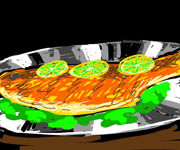 Lemon Lime flavored fish