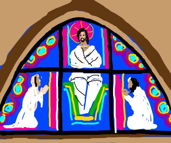Church w/ 6 stained glass windows