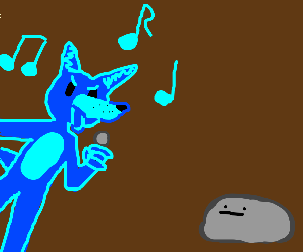 Furry sings To a Rock