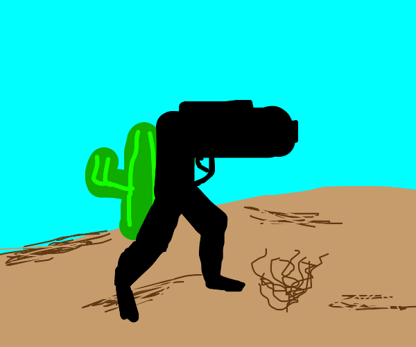 Gun With Legs In Desert