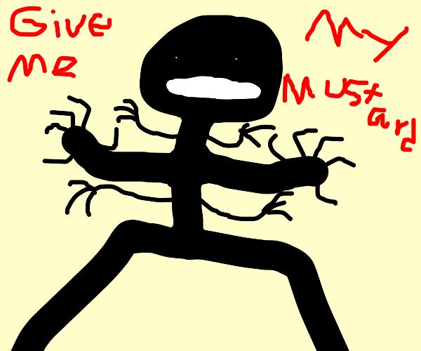 A man is demanding mustard