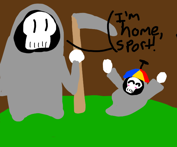 Grim Reaper returns to his son
