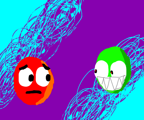 Red M&M shows concern for green buddy