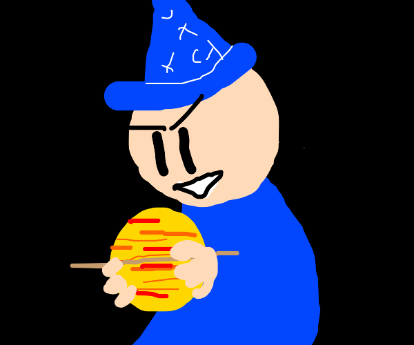Wizard holds Saturn in his grasp