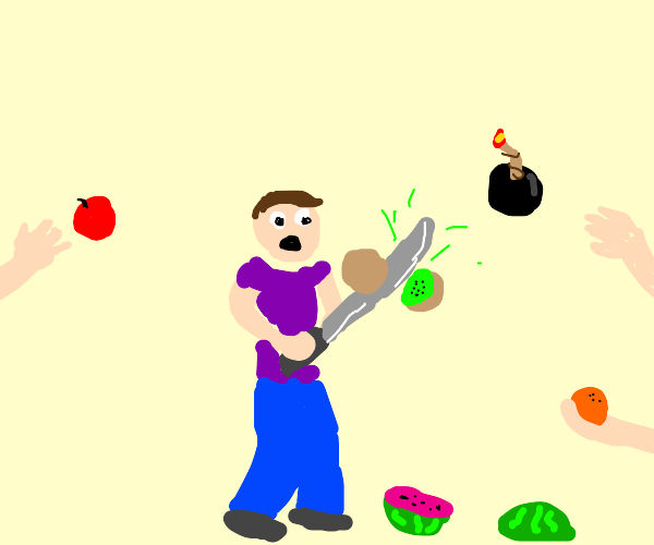 Fruit ninja IRL