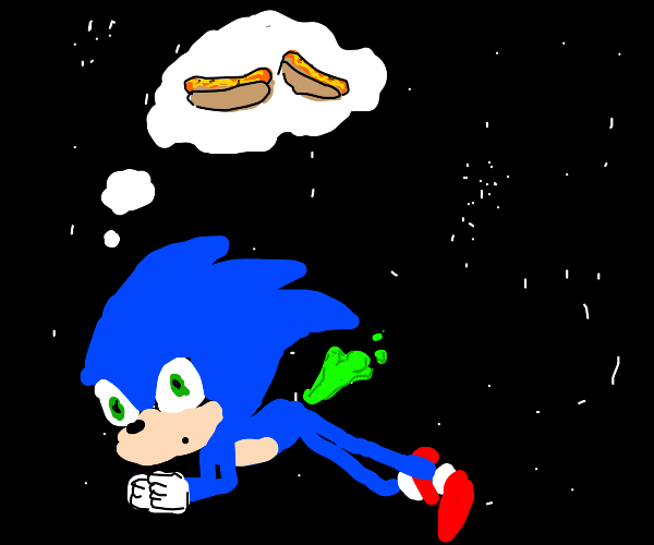 sonic farts into space and wants chills dogs