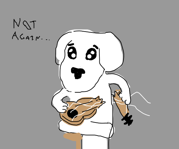 K.K Slider broke his guitar, again...