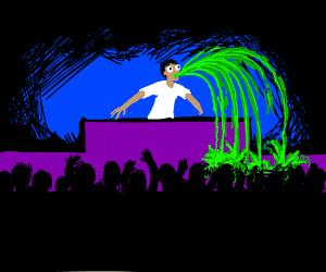 DJ pukes on stage
