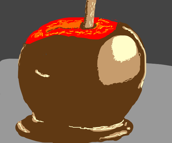 TOFFE APPLE ON  STICK