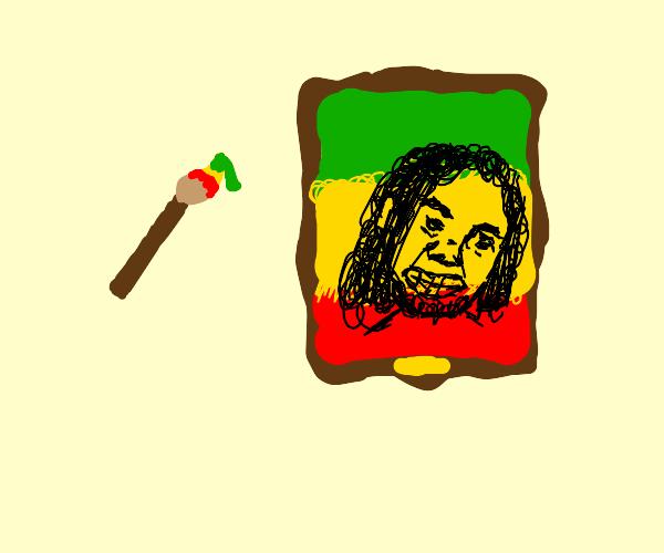 Painting of Bob Marley