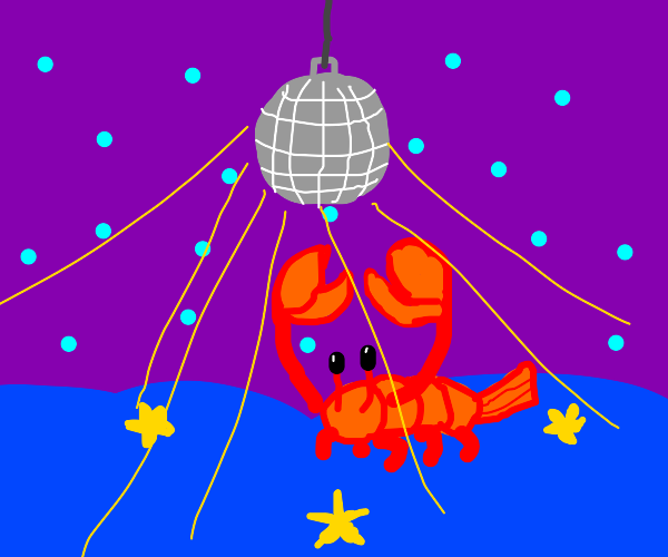 Underwater rave with lobsters (?)